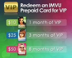 prepaid cards prepaid cards imvu