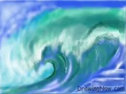how to draw a wave youtube