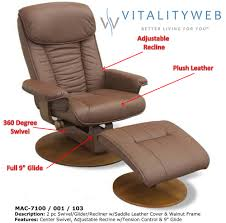 Recliner Chair With Ottoman with Furniture New Styles Of Swivel Recliner Chairs For Your Home