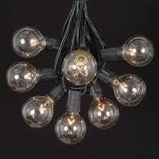 g50 globe string light sets on black wire novelty lights inc