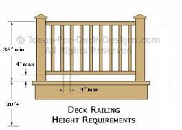 picture height deck railing height diagrams code tips