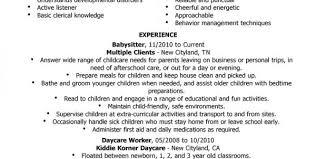 babysitting resume templates nanny resume samples download nanny