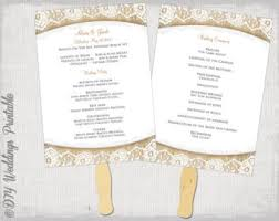 wedding fan program kits wedding invitation templates printable by diyweddingsprintable