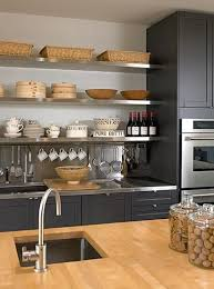 Wood Kitchen Shelves by Best 25 Stainless Steel Shelving Ideas On Pinterest Stainless