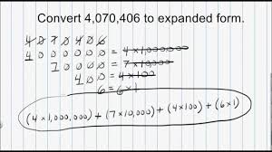 numbers in expanded form math numeration how to convert a whole number from standard form