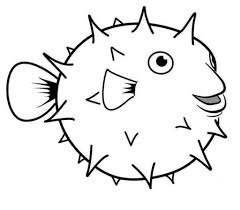 printable 34 cute fish coloring pages 8694 puffer fish