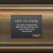 get the look seagull gray milk paint hand distressed with yellow