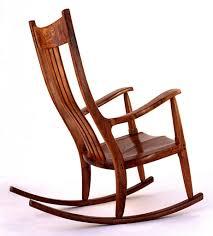 White Wooden Rocking Chair Nursery Chair Classic Rocking Chair Upholstered Rocking Chair For
