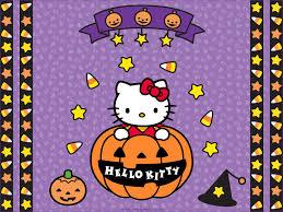 hello kitty halloween backgrounds wallpapersafari