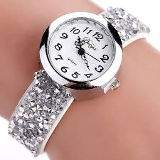 crystal bracelet watches images Duoya fashion casual crystal rhinestone bracelet watch for women jpg