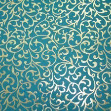 blue foil wrapping paper handmade plain turquoise color paper with gold foil emboss