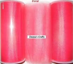 tulle spools coral tulle fabric spool roll 6 x 25 yards tutu wedding bows