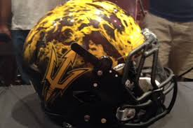 helmet design game asu releases new helmets for notre dame game house of sparky