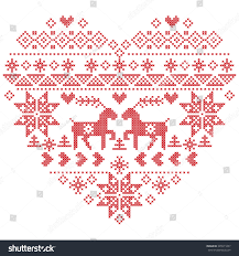 scandinavian nordic winter stitch knitting christmas stock vector