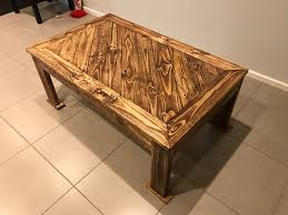 hand made angled design pallet coffee table u2022 1001 pallets