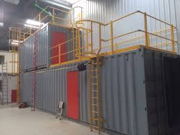 container converted into fire training unit zero gravity