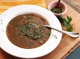 easy lentil soup with lemon zest garlic and parsley recipe