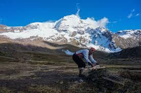 ausangate trek hike to the colorful mountain in peru