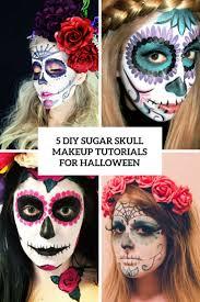 Sugar Skull Halloween Makeup 5 Diy Sugar Skull Makeup Tutorials For Halloween Styleoholic