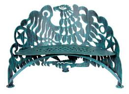 Steel Garden Bench Steel Garden Furniture Sunflower Bench Bird Bench