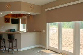 stately kitchen with sliding glass door blinds also simple kitchen