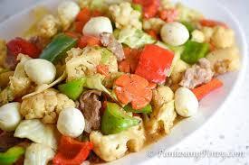 ingredient cuisine chopsuey with quail eggs panlasang