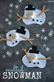 melted snowman craft project for kids darice snowman crafts