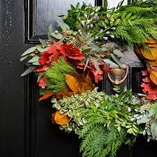 autumn wreath door wreaths for fall autumn wreath oak wreath magnolia leaf