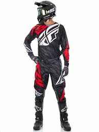 fly womens motocross gear fly racing black red white 2017 kinetic relapse mx jersey fly