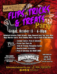 flips tricks treats halloween event rebounderz