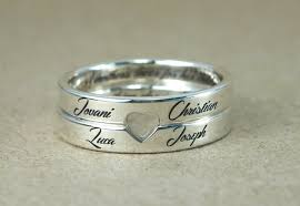 day rings personalized retro style steel custom rings sterling silver jewelry