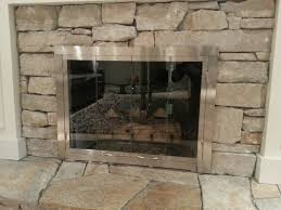 beautiful custom fireplace doors for your interior space ideas 4