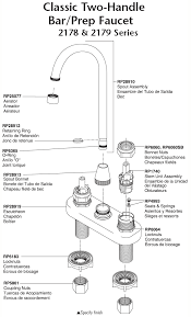 delta kitchen faucet parts diagram plumbingwarehouse com delta kitchen faucet parts for models 2178