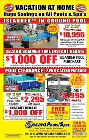 secard pools latest sales circulars see our latest specials