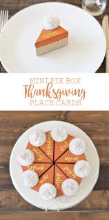 place cards diy mini pie box thanksgiving paper place cards diy