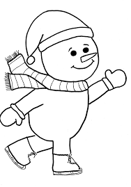 skating snowman print coloring pages kids free printable