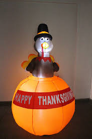 blow up thanksgiving decorations amazon com 6 foot tall happy thanksgiving inflatable turkey on