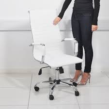 Swivel Office Chairs by High Back Swivel Office Chair White Beauty4less