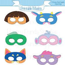 Halloween Mask Crafts Adventurer Printable Masks Sly Fox Cow Monkey Girls Masks