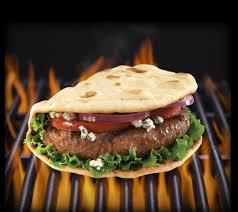 big juicy foldit flatbread cheeseburger flatoutbread