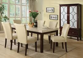 Carpet In Dining Room Brilliant Dining Space Interior With White Lather Chairs And