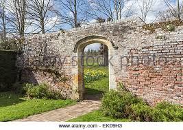 gateway in the walled garden at penshurst place a 14th century
