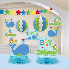 decorating a room for baby shower imanada amazon com ahoy kit blue