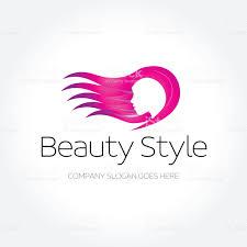 beauty fashion spa haircut salon make up logo design template