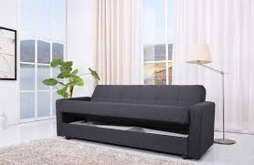 Grey Sofa Bed Jensen Sofa Bed With Storage In Charcoal Grey Fabric Furniture Joy