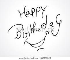Sketch Birthday Card Hand Sketch Happy Birthday Card Design Stock Vector 646755328