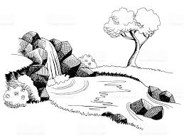 landscape clipart black and white collection