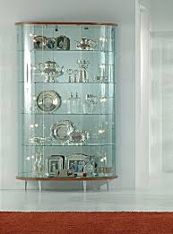 Kitchen Elegant Lockable Glass Display Cabinets Bar Cabinet - Kitchen display cabinet