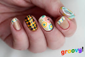easy nail art design for beginners 5 freehand stamping youtube