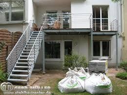 balkon mit treppe einzelbalkone köln gebr müller